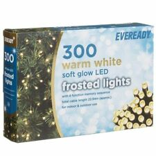 300 White MAINS 240v string fairy outdoor garden LED patio tree christmas lights