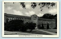 Greenwood, MS - EARLY VIEW OF HIGH SCHOOL - SMALL TOWN USA POSTCARD - E7