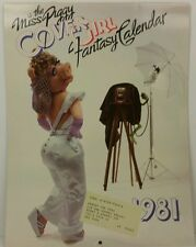 1981 Miss Piggy Calendar with Centerfold Henson Associates paper