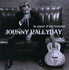 """RARE! CD DVD J. HALLYDAY """"LE COEUR D'UN HOMME"""" 15 TITRES + CLIPS, D'OCCASION,TBO"""