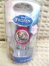 Disney Kids' Frozen Olaf,Anna and Elsa Digital Display Watch With White Rub-New!