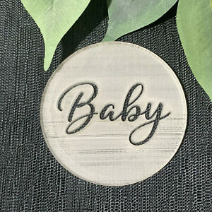 Baby Cookie Stamp. Oh Baby. Fondant Stamp. baby shower. Cookie Embosser.