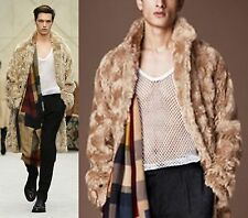 $4,895 Burberry Prorsum 38 48 Mohair Winter Caban Coat Trench Jacket Men Gift B