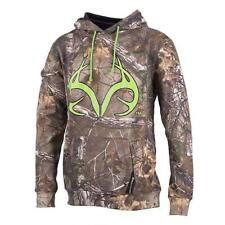 Realtree Men's XL Maple Camo Hoodie Realtree Xtra Camo with Lime Green Logo NEW