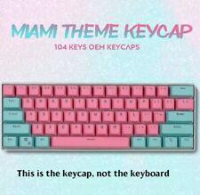 PBT Keycaps Miami Themed