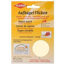 Kleiber 40 x 12 cm Cotton Iron on Repair Patch for Fine Knit Textiles, Cream