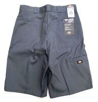 Dickies Mens Charcoal Multi Pocket Work Shorts Size 38 Loose Fit Grey