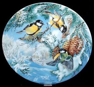 Vögel im Winter ~ 5. KOHLMEISEN ~ Bradex Sammelteller Hutschenreuther