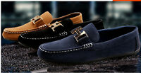 Men's Suede Casual Lace Slip On Loafer Shoes Moccasins Driving Shoes