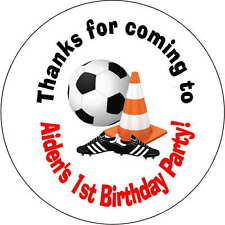 12 Boy soccer stickers Birthday Party loot bag 2.5 Inch Personalized