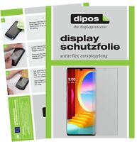 2+2x Folie für LG Velvet 4G Schutzfolie matt Displayschutzfolie Schutz dipos