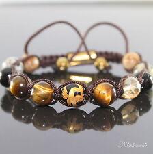 Herren Damen Edelstein Shamballa Mythischer Vogel Phoenix  Beads Armband