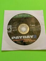 🔥 MICROSOFT XBOX ONE 🔥💯WORKING GAME DISK ONLY 🔥 PAYDAY 2 CRIMEWAVE ED🔥 FUN