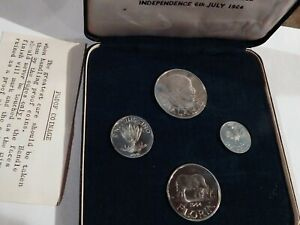 1964 MALAWI 4 COIN PROOF SET IN ORIGINAL BOX