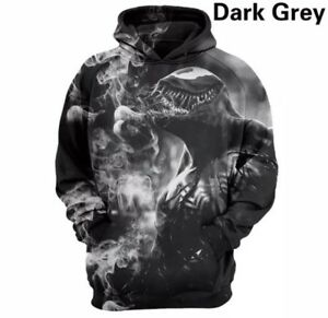 2018 Marvel Venom Hoodie 3D Printing Casual Pullover Hooded Sweat Shirt Medium