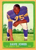 1963 Topps Football # 44 Dave Jones (EM) Lot 701 -- San Francisco 49'ers