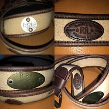 RRL Ralph Lauren Double RL Made In Italy Vintage Military Canvas Leather Belt 40