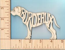 Dogue de Bordeaux French Mastiff Dog laser cut and engraved wood Magnet