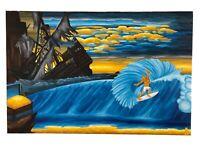 "PRINT Treasure Paintings JR Bissell: ""Kelly Slater's Treasure Cove"" Pirate Gold"