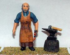 Blacksmith Anvil sundries OF12p PAINTED O Scale Langley Models People Figures