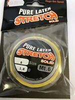 frenzee stretch solid latex elastic 0.7 mt6 elastic yellow