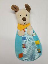 Taggies Puppy Dog Lovey Security Blanket Plush Toy Satin Ribbon Tags Boy