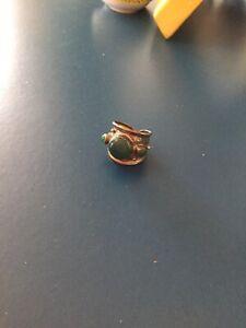 Anello argento 925 con Pietre Verdi
