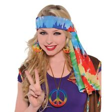 anni '60 Hippy Multicolore tintura a riserva Copricapo Headwrap Bandana