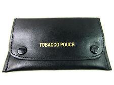NUEVO Alta Calidad Auténtico Cuero Negro Tabaco Bolsa Papel Soporte Cartera