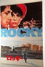 ROCKY Sylvester Stallone Movie Program japanese:p25