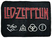 Led Zeppelin 4 Symbols Super Soft And Cuddly Fleece Plush Throw Blanket