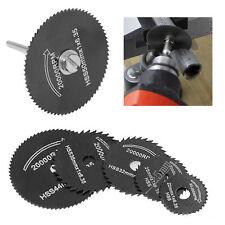 6Pcs HSS Saw Blades Cutting Discs Wheel + 1 Mandrel For Metal Rotary Tool