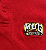 Vtg 80s Retro Mug Root Beer Pepsi Cola Men Red Golf Polo Shirt Swingster Sz XL