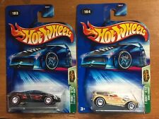 Hot Wheels 2004 Treasure Hunt - #3 Cadillac Cien & #4 Double Demon