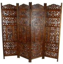 low level room dividers open plan panel heavy duty carved indian screen wooden leaves design room divider buy screens dividers ebay