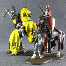 Medieval 1/32 Cavalry Knights Battle of Crecy Painted Metal Toy Soldiers 54mm