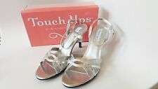 New In Box! Touch Ups Taryn Silver Women's Sandals Heels Shoes Size 12 M