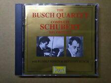 Busch Quartet — Complete Schubert Recordings (2 CD, Pearl GEMM CDS 9141), 1994