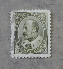 1903-08 Canada Stamp #94 King Edward VII 20 Cents