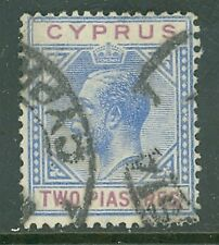 Cyprus 1921 2pi ultra and red volet F-Vf Used Scott #79 Cat $25.00