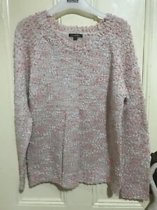 Luca&Marc pink speckled knit size small