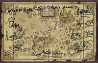 Harry Potter-Wizarding World Map *11* Autographs/Signatures - TOP SELLER ⭐⭐⭐⭐⭐