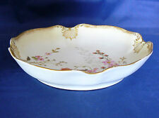 Antique c.1880 - M. REDON - LIMOGES Porcelain - Gilded TABLE BOWL -  Excellent