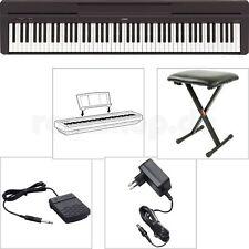 Yamaha P45 B Digital E-Piano Klavier SET mit Sitz Bank + Netzteil + Fußschalter
