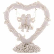 Rose Heart Swing Love Cherub Angel Couple Ornament Figurine Statue Gifts New