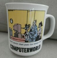 Computerworld, Don't Panic Just Push The Escape Key, Rich Tennant Mug Cup, EUC