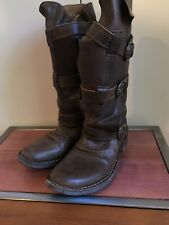 FIORENTINI + BAKER Boots Women's Size 38.5 Eternity Brown 3-Strap Buckle