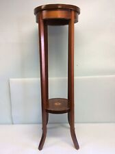 Two Tier Inlaid Mahogany Fern Stand 39� Tall