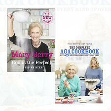 Mary Berry Cooks The Perfect recipies,Complete Aga Cookbook 2 Books Set New Hard