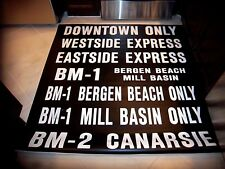 Nyc Bus Sign Downtown Bergen Beach Mill Basin Brooklyn West East Ny Roll Sign Ny